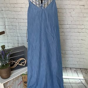 Rare Gap Soft Chambray Denim Maxi Dress XL
